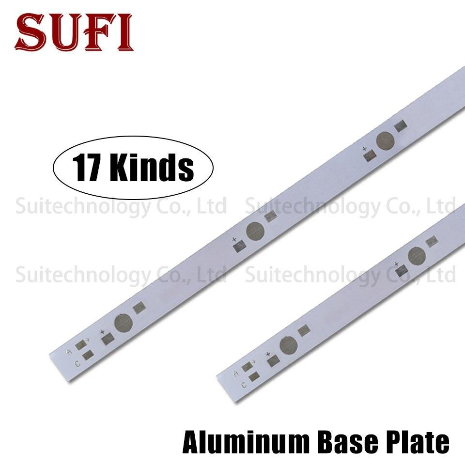 1W 3W 5W LED Aluminum Base Plate 130mm 150mm 300mm 400mm 500mm PCB Board For 3 4 5 6 7 8 10 12 15 30 50 60 100W Watt Light Beads