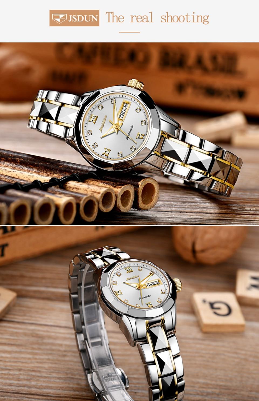 d57b48e4f9cf สุภาพสตรีนาฬิกา 2017 relojes mujer กันน้ำแฟชั่นนาฬิกา JSDUN ผู้หญิง ...