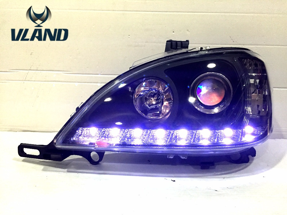VLAND manufacturer for Car head lamp for W163 LED Headlight with H7 Xenon lamp angel eyes Head light for factory wholesale price free shipping vland factory headlamp for volkswagen gol led headlight h7 xenon lamp with angel eyes led bar lamp plug and play