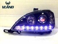 Vland الصانع ل سيارة رئيس مصباح لل W163 الصمام العلوي مع h7 زينون مصباح عيون الملاك رئيس ضوء ل سعر المصنع بالجملة