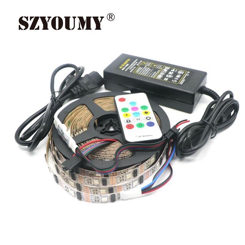 SZYOUMY WS2801 32 Pixel Non-étanche couleur de rêve 5050 RGB bande de LED adressable DC5V + Mini contrôleur + 5V 8A adaptateur secteur