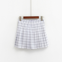 Fashion Normic 247 Aa High Waist Plaid Pleated Skirt Style British Preppy Style Cute Short Skirt