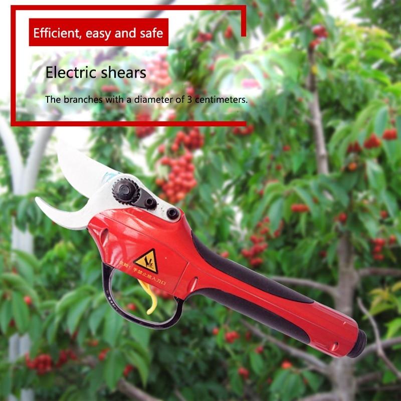 Tesouras de poda elétricas antiderrapante aperto jardim