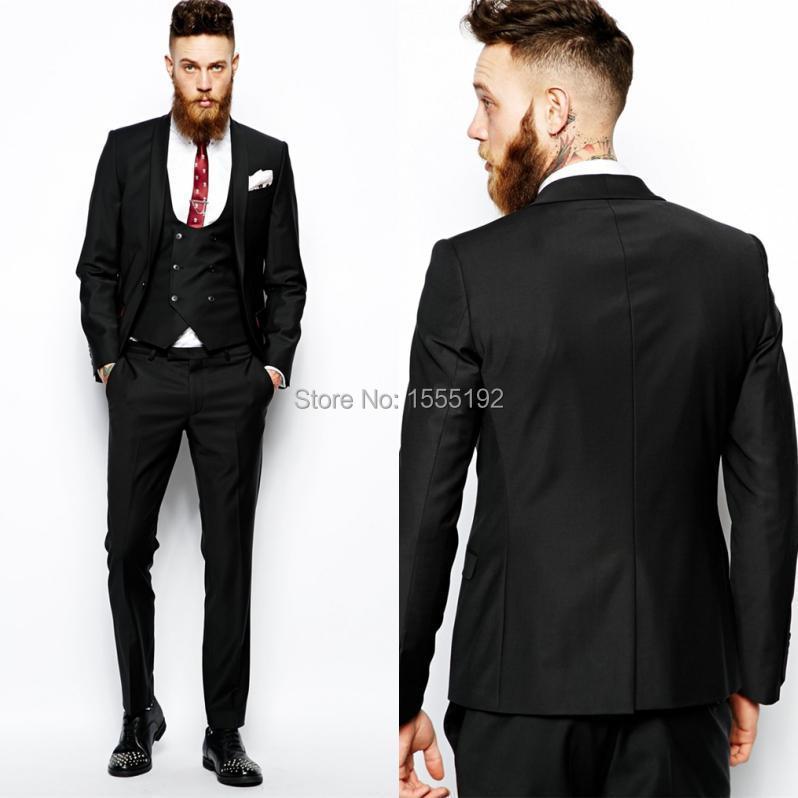 Custom Made Men Groom Tuxedos High Quality Business Suits Classic ...