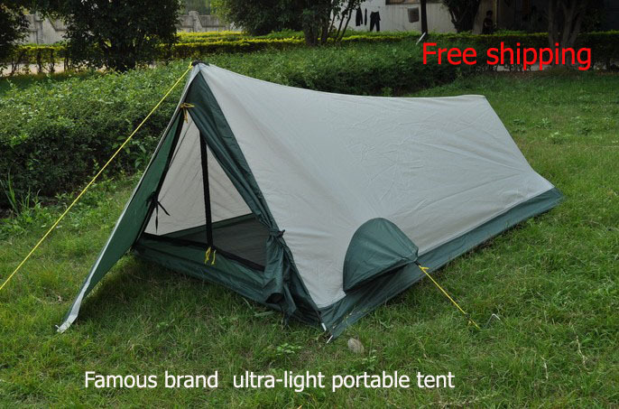 Aliexpress.com  Buy Ultra light single layer tent c&ing supplies water resistant sunscreen for 1 person ultralight tent from Reliable tent c&ing ... & Aliexpress.com : Buy Ultra light single layer tent camping ...