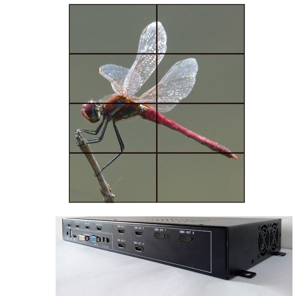 Unterhaltungselektronik 1x2 Videowand-prozessor Für Videowand Zeigt Hdmi Dvi Vga Usb-eingang Hdmi-ausgang Dj-equipment