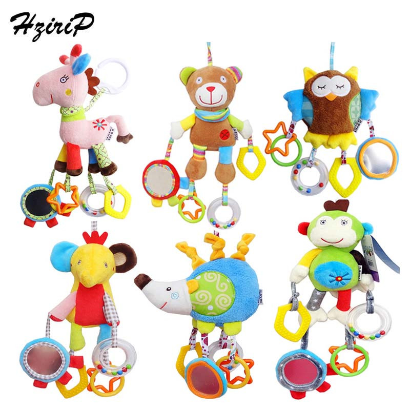 HziriP 2017 új érkezés aranyos többfunkciós állat ágy Bell baba játékok puha plüss baba újszülött csörgők csecsemő játékok ajándék