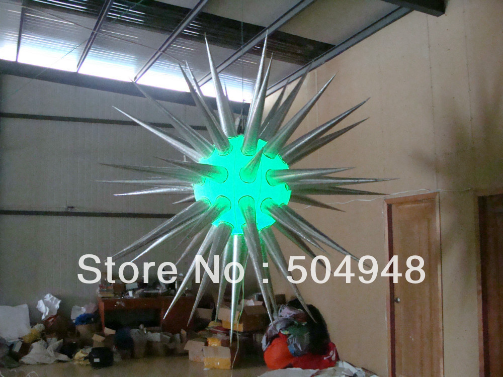 LED Lighted Silver Inflatable Star For Party wedding inflatabe star inflatable lighted stars for party decoration