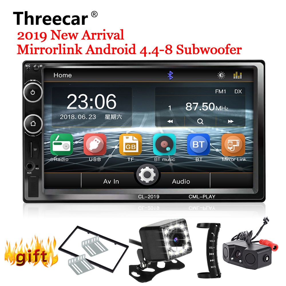 2 Din Autoradio Bluetooth Mirror link 2din voiture lecteur multimédia HD tactile Autoradio MP5 USB Audio stéréo voiture moniteur 2019 nouveau