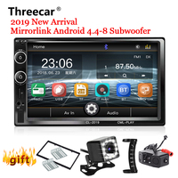 2 Din Car Radio Bluetooth Mirror link 2din Car Multimedia Player HD Touch Autoradio MP5 USB Audio Stereo Car Monitor 2019 NEW