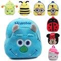 2016 Nova Mochila de Pelúcia Adorável Mickey Minnie Azul Asseclas Monstro Presentes das Crianças Brinquedos Dos Desenhos Animados Olá Kitty Mini Schoolbag Crianças