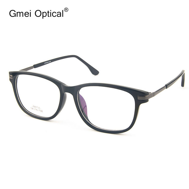 5b37e9623c41 Gmei Optical JB8756 Acetate Full-Rim Frame Eyeglasses for Men and Women Spectacles  Fashion Eyewear