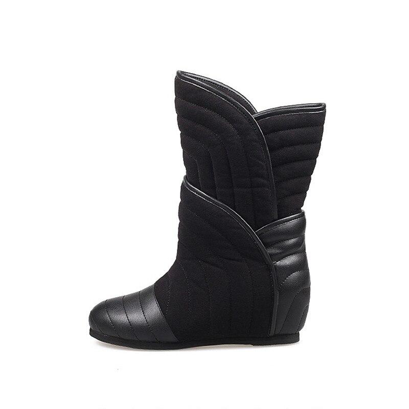 De Chaude Noir Cm Botas Bottes Femmes Cuir Chaussures 6 Chausson Hauteur Véritable Jadyrose Croissante Femme Mode Neige D'hiver En Bottine OR4gq5Z