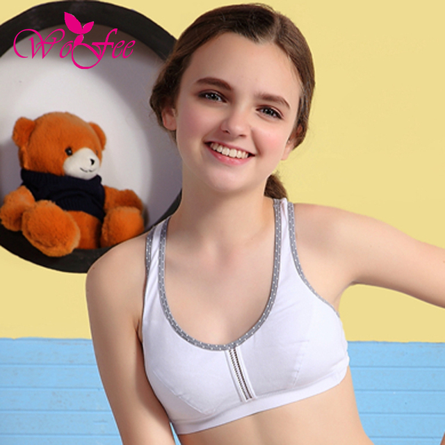 eda254bc21e18 Tsfit-Land Students Sports Design Y-Shoulder Straps Cotton Breathable  Training Bras Without Back Hooks B8014