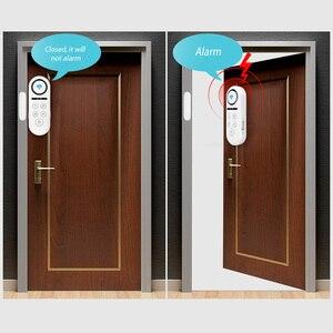 Image 3 - KERUI WIFI датчик двери, окна, двусторонний магнитный детектор 120 дБ 4 цифровой пароль приветствуется сигнализация система домашней безопасности