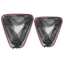 1 PC pliant filet de pêche Triangle Portable profondeur maille filet pôle pêche Brail tête filets accessoires
