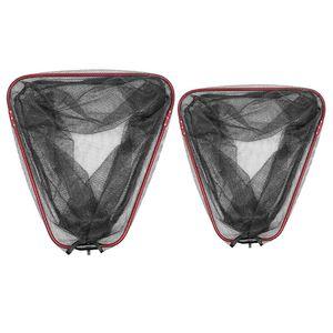 Image 1 - 1 adet katlanır balıkçılık Net üçgen taşınabilir derinlik örgü kutup balıkçılık Brail kafa ağları aksesuarları