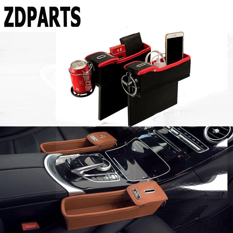 ZDPARTS 1 PC Pour VW Passat B5 B6 B7 Golf 4 7 6 T5 T4 Polo Mazda 3 6 CX-5 CX-3 Jeep Voiture Siège Écart Organisateur Boîte Pièces Porte-boissons