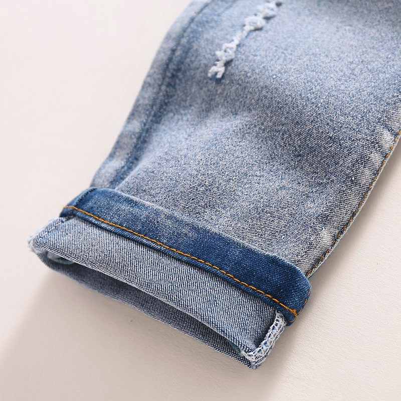 Kids Jeans Boys Girls Full Length Jeans Panty Panties Sring Autumn Cotton Fashion Casual Style Convenient Elastic Waist 5