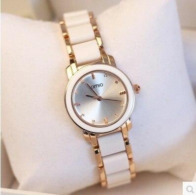 KIMIO Роскошные Для женщин Часы Reloj Oro Rosa Mujer Montre ETANCHE дамы Повседневные часы Для женщин браслет подарок Relogio feminino 2017