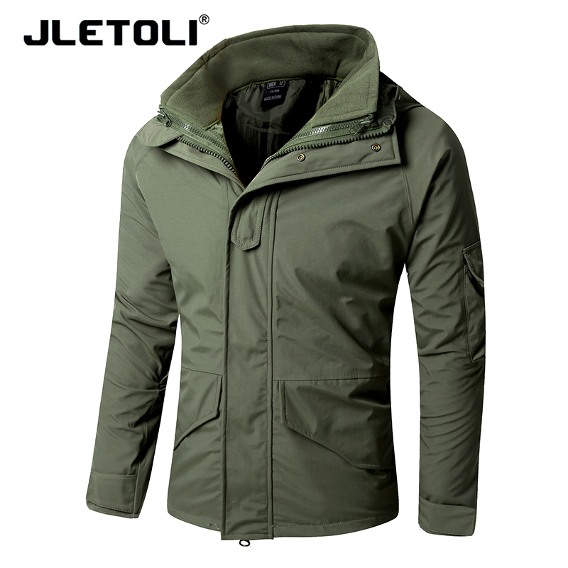 JLETOLI Double Layer Winter Heated Jacket Hunting Clothes Tactical Fleece Jacket Hiking Camping Men s Coat