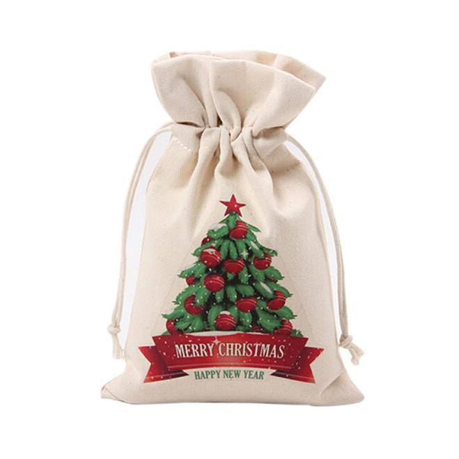 Santa Claus Christams Gift Bag Cute Drawstring Storage Canvas Bag Home Decorations decoracion de navidad 2017