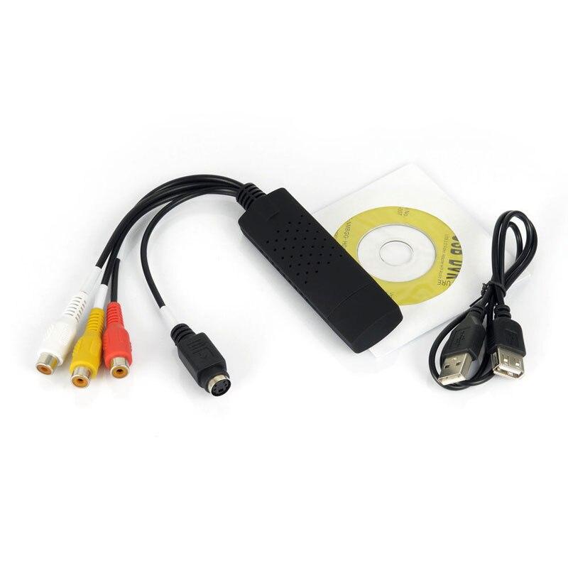 Original ahhroou Venta caliente easycap USB 2.0 casquillo fácil del vídeo TV DVD VHS DVR USB adaptador de captura de vídeo vedio dispositivo de captura