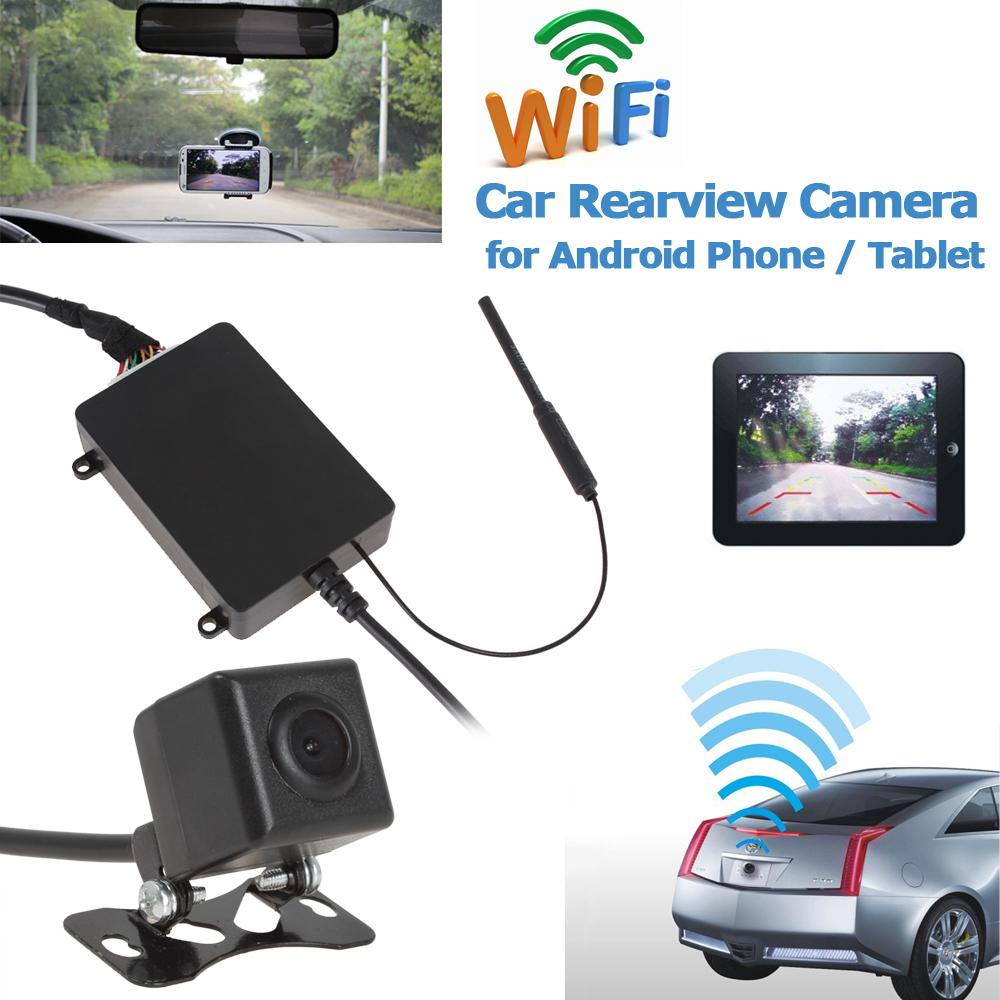 Top Wireless WiFi Car Backup Camera Rear View Reversing Camera Auto Car Rearview CMOS Cam for Android Phone / Tablet lacywear серьги ak 181 vie