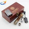 Nuevo llega X fuego 2 madera kit completo cigarrillo electrónico cigarrillo electrónico fuego e cig kits con protank atomizador ego vaporizador pluma de madera X fuego