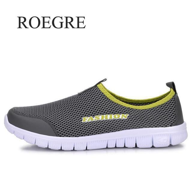 Das sapatilhas Dos Homens Sapatos de Verão 2019 New Plus Size 35-46 Confortáveis Homens Calçados Casuais Malha Respirável Loafers Flats sapatos Calçado