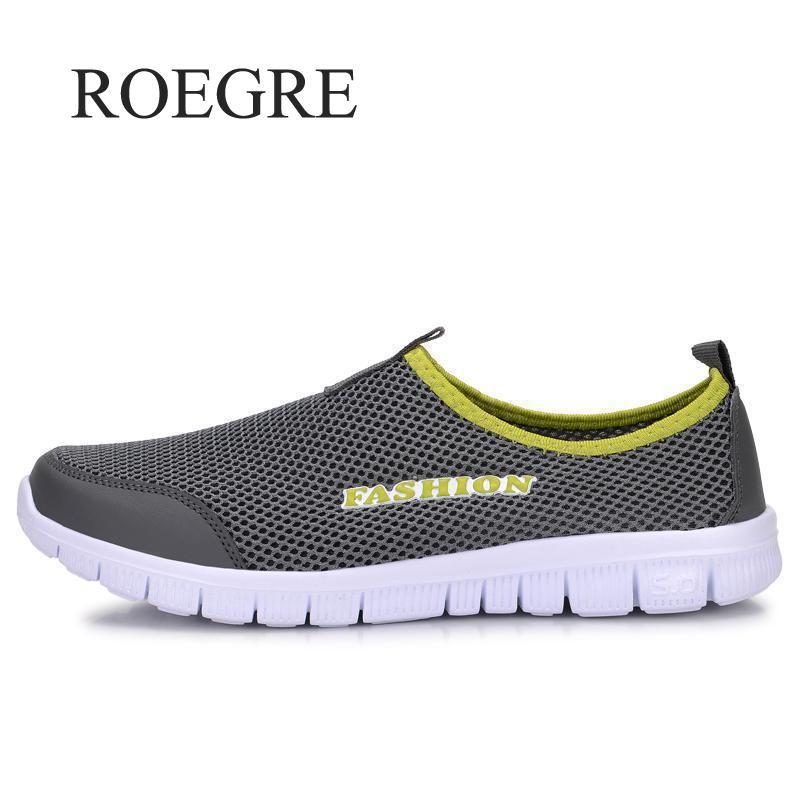 Zapatillas de deporte de los hombres zapatos de verano 2019 Plus tamaño 35-46 cómodo de los hombres zapatos casuales zapatos de malla transpirable mocasines planos zapatos calzado