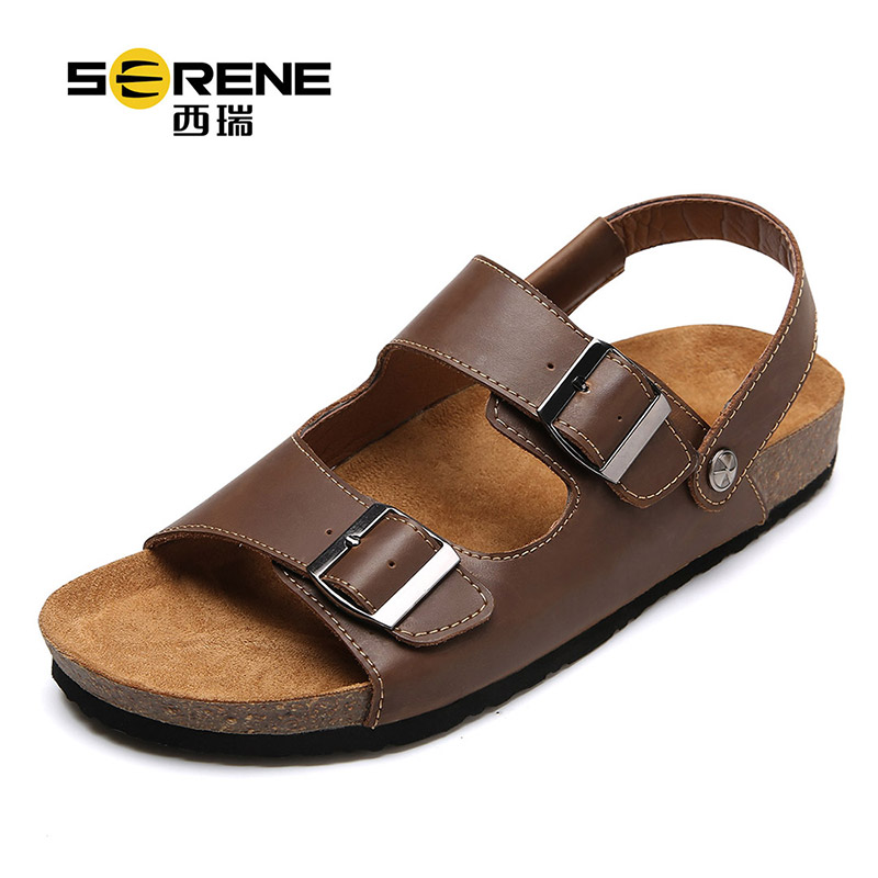 Men Sandal Slipper 2 in 1 Summer Beach Shoes 2018 Fashion Men Casual Footwear Comfortable Open Toe Slides Cork Slippers Big Size
