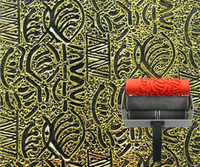 Wall printing mould 7 inch patterned roller for wall decoration rubber roller no.151