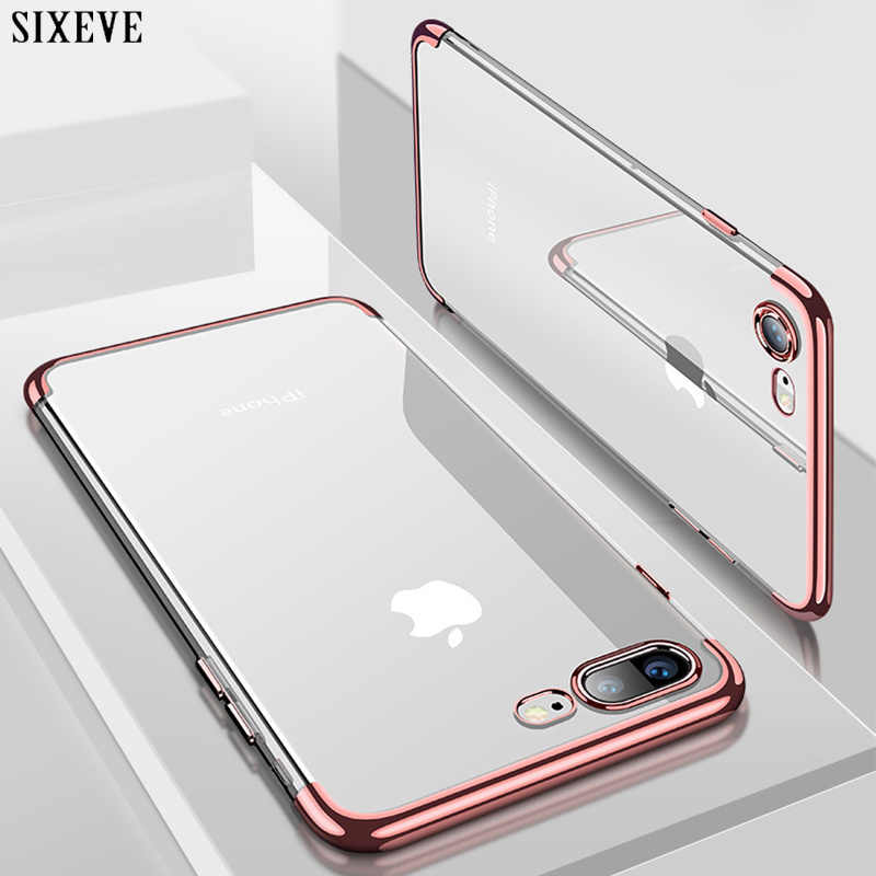 SIXEVE Silicon Clear Soft Case for iPhone X 10 XS Max XR iPhone 6S 6 s 6Plus 6SPlus iPhone 7 8 7Plus 8Plus Phone Cover Casing