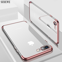 Silicone claro macio caso do telefone para o iphone 11 pro x 10 xs max xr iphone 6 s 6 plus iphone 7 8 7 plus 8 mais capa protetora
