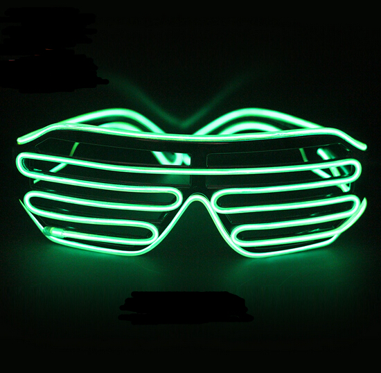Green Quick Flashing EL LED Glasses Luminous Party Lighting Colorful Glowing Classic Toys For Dance DJ, Party Mask YH136