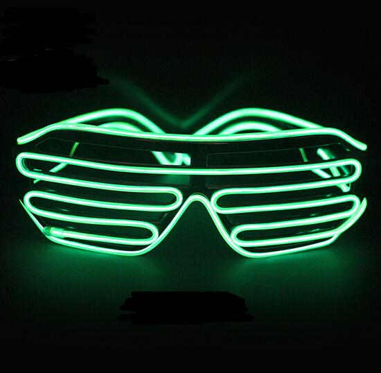 Rápida verde Intermitente LED Gafas Luminosa Iluminación Del Partido Que Brilla Intensamente Colorido Juguetes Clásicos Para la Danza DJ, Máscara del partido YH136