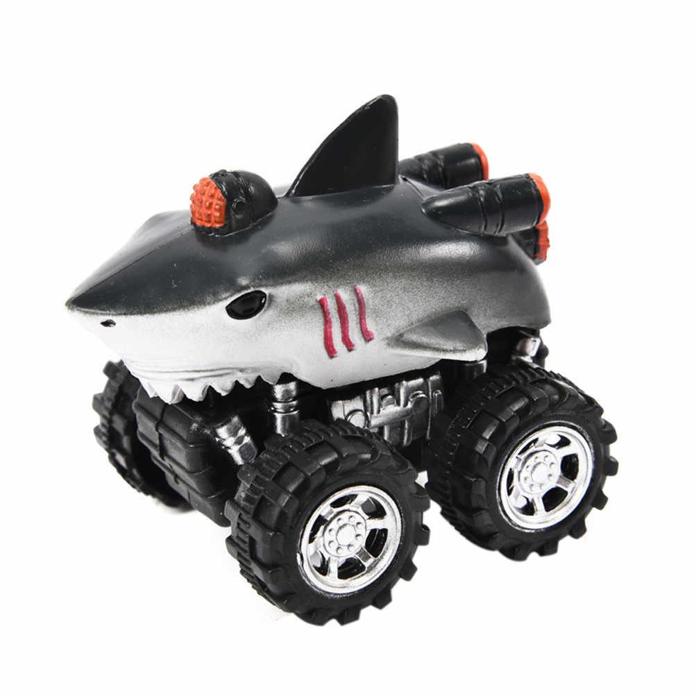 ホット販売車のおもちゃの車ミニ車両動物プルバック車ビッグタイヤホイール創造的なギフト子供のためのバック将来に #30