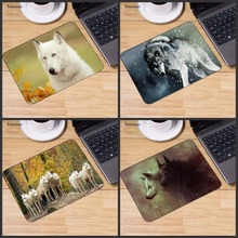 Yuzuoan Wolf In Forest Animal Gaming Mouse Mats Computer Laptop Notbook
