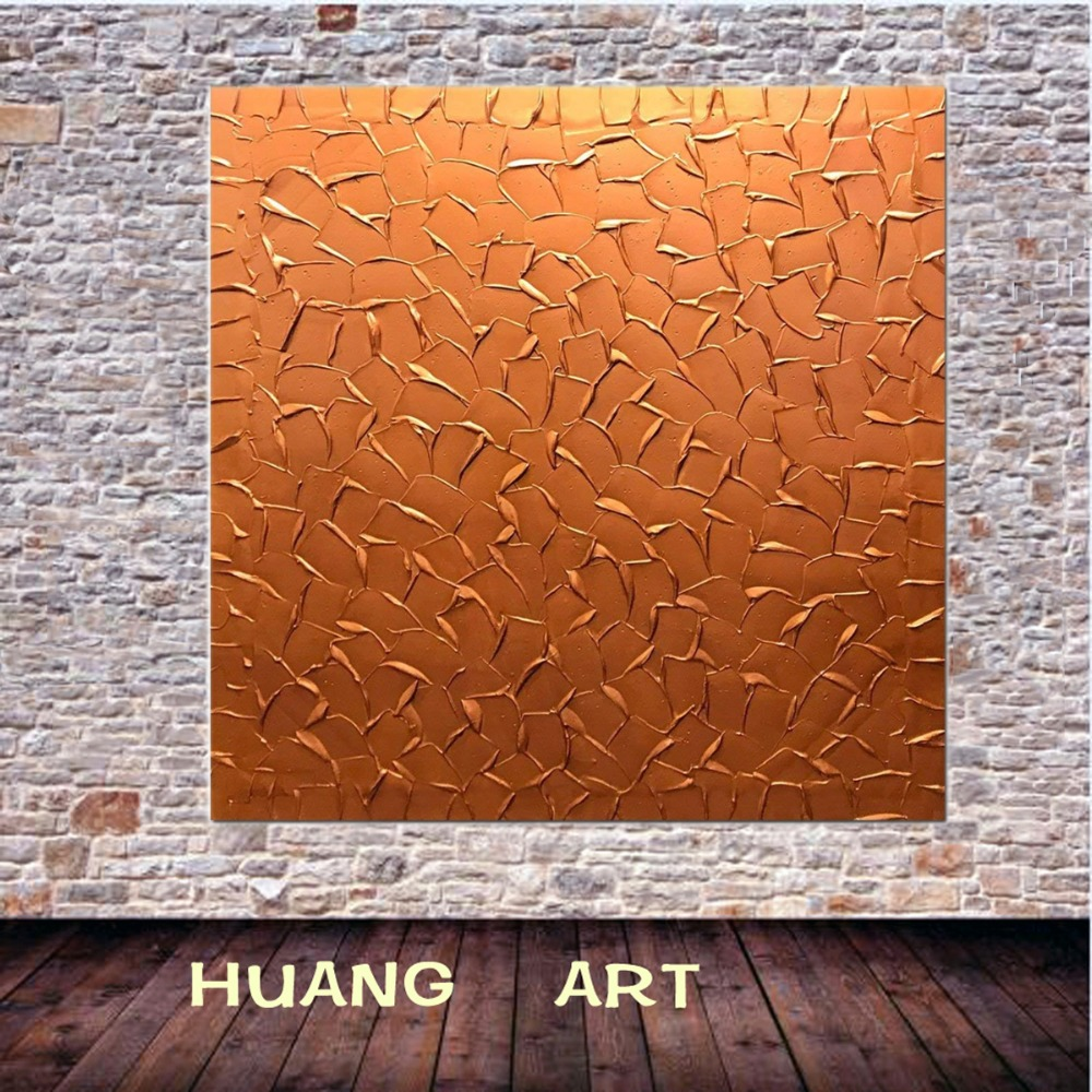 Hand Painting 3D Yellow and silver and copper On Canvas Abstract Artwork Hanging Wall Decoration Abstract Painting