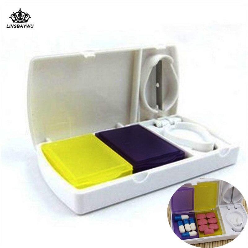 Портативный 3 слота умные случае печать складной Pill ювелирные изделия конфеты коробка для хранения Витамин Медицина Pill Box Дело контейнер