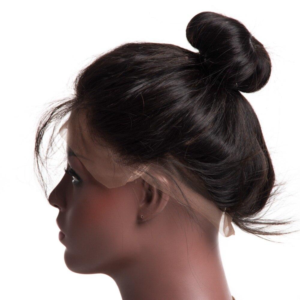 Pre Plucked 360 Lace Frontal med Bundle Body Wave Brasilian Human - Mänskligt hår (svart) - Foto 4