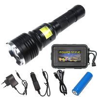 New Design 2 In 1 LED Flashlight CREE XML T6 LED COB Bulb Working Light With