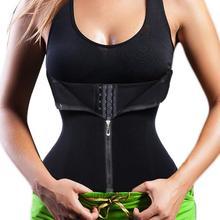 ФОТО yumdo slimming waist trainer corset sweat belt zip clip front neoprene boned workout body shaper cincher tummy control shapewear