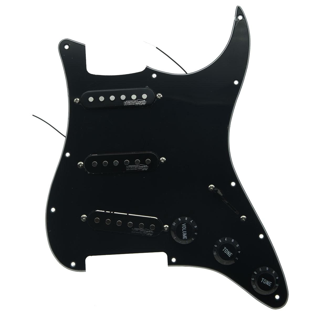 Pickguard pour guitare Dopro avec micros Wilkinson précâblés ST Pickguard convient aux Strat de garde-boue Stratocaster fabriqués aux états-unis/mexique