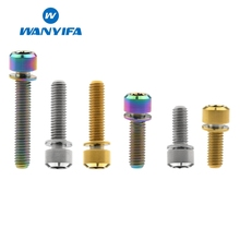 Wanyifa Titanium Bolt Screw M6x16 20 25 35mm with Washer for Bicycle Disc Brake