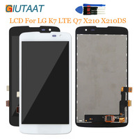 Preto Original Substituição Para LG LTE K7 Q7 X210 X210DS LCD Screen Display Toque Digitador Assembléia|Painel de toque p/ celular| |  -