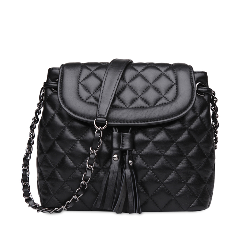 Ainifeel Women S Bucket Handbags Quilted Genuine Leather Shoulder Chain Strap Cross Body Purses In Crossbody Bags From Luggage On