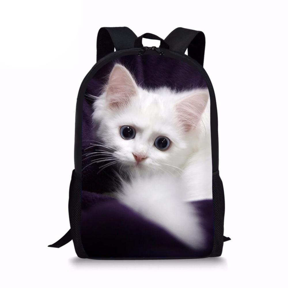Kawaii Siamese Cat 3D Printing Backpack Kids Boys Girls Shoulder Backpacks Ladies Lovely String Bag Teens Mini Back Pack