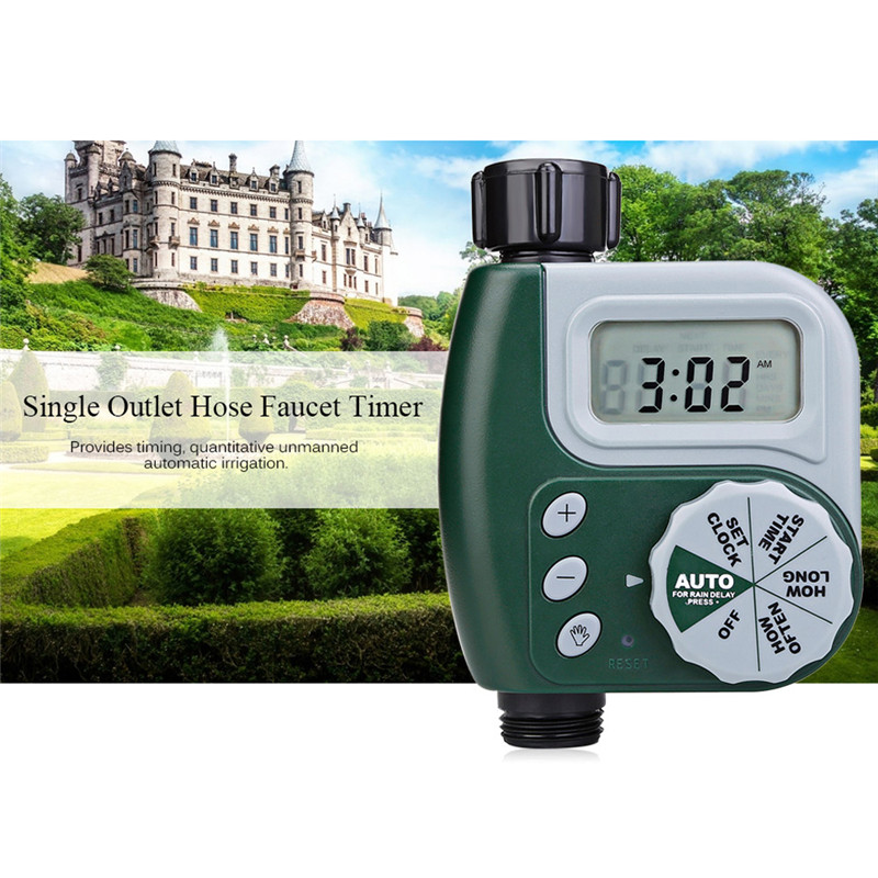 Garden Watering Timer Automatic Electronic Water Timer Home Garden Irrigation Timer Controller System autoplay irrigator(China)